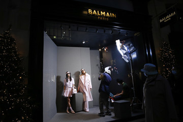 Olivier Rousteing Olivier Rousteing Shoots Balmain Pre-Fall 2021 Collection From Saint-Honore Flagship In Paris