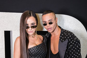 (L-R) Sabrina Sato and Olivier Rousteing attend the Balmain party at Cidade Jardim Shopping on August 26, 2019 in Sao Paulo, Brazil.