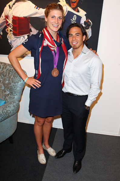 apolo anton ohno in us olympic athlete medalists visit