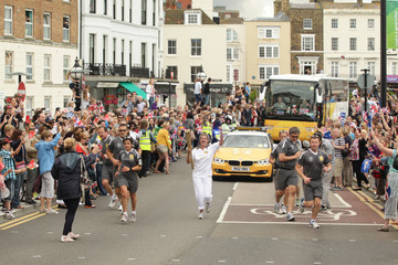 Tracey Emin The Olympic Flame Continues Its Journey Around The UK