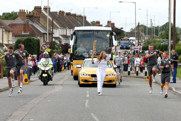 Rosie Jones The Olympic Flame Continues Its Journey Around The UK
