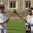 Gina MacGregor The Olympic Torch Continues Its Journey Around The UK