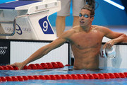 Pieter Timmers of Belgium looks on after he competed in the Men's 100m Freestyle heat 7 on Day 4 of the London 2012 Olympic Games at the Aquatics Centre on July 31, 2012 in London, England.