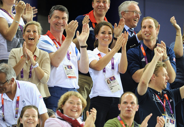 Sophie, Countess of Wessex, Sir Tim Lawrence, Catherine, Duchess of Cambridge and Prince William, Duke of Cambridge during Day 6 of the London 2012 Olympic Games at Velodrome on August 2, 2012 in London, England.