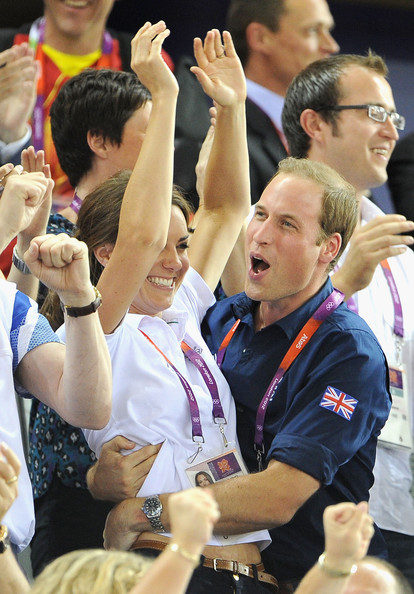 Catherine, Duchess of Cambridge and Prince William, Duke of Cambridge during Day 6 of the London 2012 Olympic Games at Velodrome on August 2, 2012 in London, England.