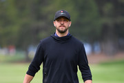 Justin Timberlake in action during the Pro - Am prior to the start of the Omega European Masters at Crans-sur-Sierre Golf Club on August 28, 2019 in Crans-Montana, Switzerland.