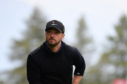 Singer Justin Timberlake of USA plays a shot during the pro-am prior to the start of the Omega European Masters at Crans Montana Golf Club on August 28, 2019 in Crans-Montana, Switzerland.
