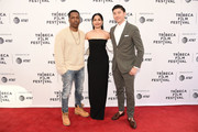 "Leslie Odom Jr., Freida Pinto and director Takashi Doscher attend the World premiere of ""Only"" during the 2019 Tribeca Film Festival at SVA Theater on April 27, 2019 in New York City."