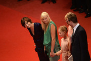 Kristin Scott Thomas (L), Nicolas Winding Refn (R) and his wife Liv Corfixen ,attend the 'Only God Forgives' Premiere during the 66th Annual Cannes Film Festival at Palais des Festivals on May 22, 2013 in Cannes, France.