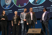 Axcess Financial Senior Marketing Manager Jennifer Davis, Massage Envy VP Consumer Marketing Jeanna Corley, Romeo's Pizza CEO Ryan Rose, ENT and Allergy Associates, LLP Director Business Development & Marketing Jason Campbell, and SP+ SVP Marketing Vincent Raguseo speak onstage during the Onward18 Conference - Day 2 on October 24, 2018 in New York City.