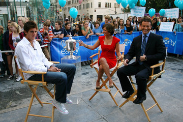 Jeff Glor US Open Champion Juan Martin Del Potro Tours New York City