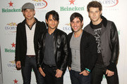 (L-R) Andrew Lee, Jason Rosen, Michael Bruno and Alexander Noyes of Honor Society attend the U.S. Open Player Party presented by Heineken at Skyline Studios on August 28, 2009 in New York City.