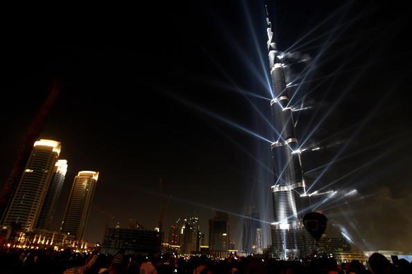 The Burj Dubai tower is