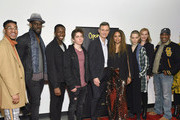 "Mustafa Shakir, Sekon Sissoko, Sam McCarthy, Tony Goldwyn, Tracie Thoms, Asia Kate Dillon, Joe Morton andKamilah Forbes attend Opening Act's 13th Annual Benefit Play Reading ""In Our Own Words"" at New World Stages on April 02, 2019 in New York City."