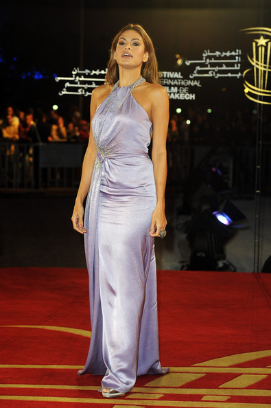 Actress Eva Mendes Poses as she arrives at the Opening Ceremony of the Marrakech 10th International Film Festival on December 3, 2010 in Marrakech, Morocco.