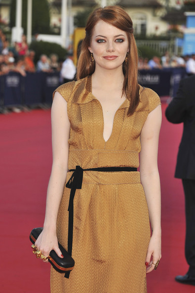 Emma Stone arrives at the opening ceremony of the 37th Deauville American Film Festival on September 2, 2011 in Deauville, France.