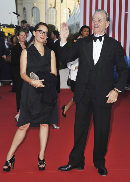 Liza Johnson and Bill Murray arrive at the opening ceremony of the 37th Deauville American Film Festival on September 2, 2011 in Deauville, France.