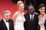 (L-R) Jury President Robert De Niro, Jury Members Uma Thurman,  Mahamat-Saleh Haroun and Martina Gusman attend the Opening Ceremony at the Palais des Festivals during the 64th Cannes Film Festival on May 11, 2011 in Cannes, France.