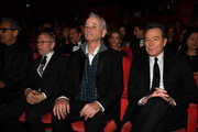 (L-R) Bob Balaban, Bill Murray and Bryan Cranston attend the Opening Ceremony & 'Isle of Dogs' premiere during the 68th Berlinale International Film Festival Berlin at Berlinale Palace on February 15, 2018 in Berlin, Germany.