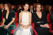 """(L-R) Writer Joanna Rakoff, Margaret Qualley and Sigourney Weaver at the opening ceremony and """"My Salinger Year"""" premiere during the 70th Berlinale International Film Festival Berlin at Berlinale Palace on February 20, 2020 in Berlin, Germany."""