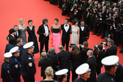 (L-R) Director Olivier Dahan, actors Tim Roth, Nicole Kidman, Jeanne Balibar, producer Pierre-Ange Le Pogam, guests, actress Paz Vega, screenwriter and producer Arash Amel attend the Opening ceremony and the 'Grace of Monaco' Premiere during the 67th Annual Cannes Film Festival on May 14, 2014 in Cannes, France.