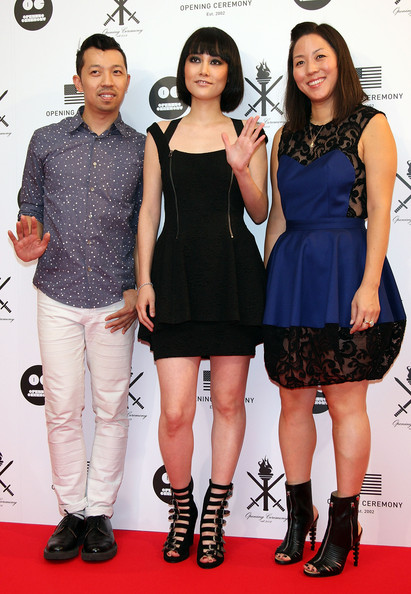 (L to R) Humberto Leon, Creative Director of Opening Ceremony, Japanaese actress Rinko Kikuchi and Carol Lim, CEO of Opening Ceremony attend the 'Opening Ceremony' Japan flagship store opening reception party on August 29, 2009 in Tokyo, Japan. Opening Ceremony will open its first store in Tokyo's fashion district Shibuya on August 30.