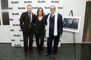 (L-R) MoMA film curator Josh Siegel, director Maria Sole Tognazzi and actor Robert Cicutto attend the opening night of The Museum of Modern Art and Luce Cinecitta's Ugo Tognazzi: Tragedies of a Ridiculous Man Retrospective at MoMA on December 5, 2018 in New York City.