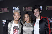 "Frankie Grande, Krista Llamas and Hale Leon attend Opening Night Of ""Rock Of Ages"" Hollywood At The Bourbon Room at The Bourbon Room on January 15, 2020 in Hollywood, California."