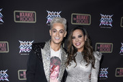 "Frankie Grande and Krista Llamas attend Opening Night Of ""Rock Of Ages"" Hollywood At The Bourbon Room at The Bourbon Room on January 15, 2020 in Hollywood, California."