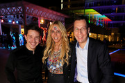 (L-R) Nico Santos, Loona and Managing Director ROBINSON Club Bernd Maeser  attend the re-opening of ROBINSON Club Jandia Playa on December 04, 2018 in Fuerteventura, Spain.