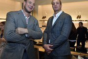 Gordie Gronkowski, Jr. and Rob Gronkowski attend the Opening of the Salvatore Ferragamo Copley Place store on November 2, 2017 in Boston, Massachusetts.