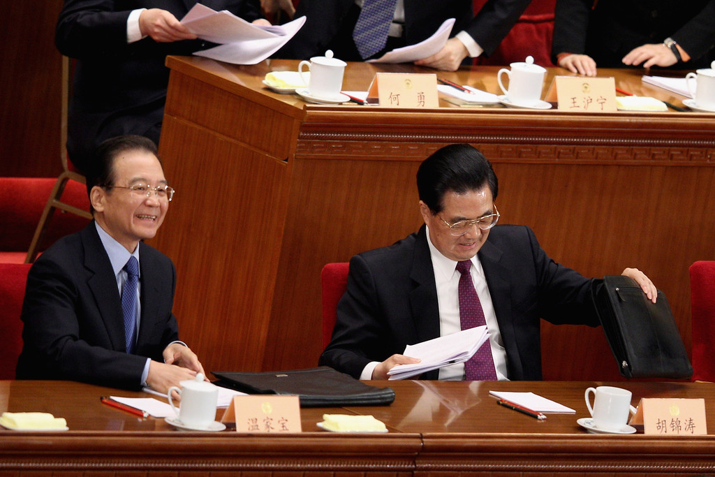 Wen Jiabao in Opening Sesson Of The Chinese People's ...