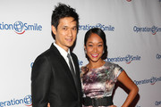 Actor Harry Shum Jr. (L) and actress Shelby Rabara attend Operation Smile's 2013 Smile Gala at the Beverly Wilshire Four Seasons Hotel on September 27, 2013 in Beverly Hills, California.