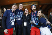 (L-R) Thomas Harman, Peter Maro, Lynne Maro, Darren Criss and Mia Swier attend Operation Smile's 7th Annual Park City ski challenge sponsored by The St. Regis Deer Valley and Deer Valley Resort VIP dinner at The St. Regis Deer Valley on March 10, 2018 in Park City, Utah.