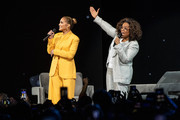 Jennifer Lopez and Oprah speak onstage during 'Oprah's 2020 Vision: Your Life in Focus Tour' presented by WW (Weight Watchers Reimagined) at The Forum on February 29, 2020 in Inglewood, California.