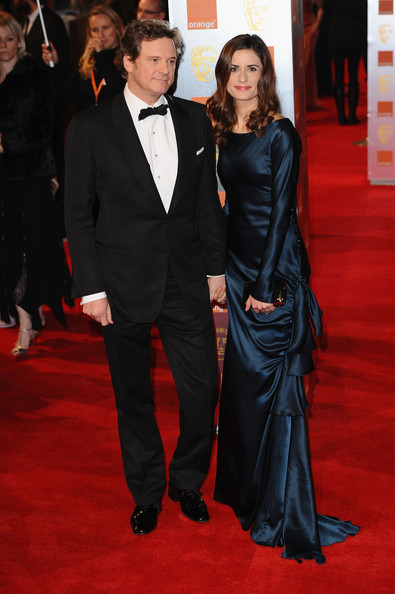 Actor Colin Firth and his wife Livia Giuggioli arrive for the Orange British Academy Film Awards at The Royal Opera House on February 13, 2011 in London, England.