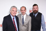 """(L-R) Actors Michael Harney, Nick Sandow and Brad William Henke attend """"Orange Is The New Black"""" premiere at SVA Theater on June 16, 2016 in New York City."""