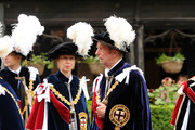 Prince Edward, Duke of Kent and Princess Anne, Princess Royal attend the Order Of The Garter Service at St George's Chapel on June 17, 2013 in Windsor, England.