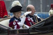 Princess Alexandra and the Prince Edward, Duke of Kent travels by carriage after the Most Noble Order of the Garter Ceremony on June 16, 2014 in Windsor, England. The Order of the Garter is the senior and oldest British Order of Chivalry, founded by Edward III in 1348. Membership in the order is limited to the sovereign, the Prince of Wales, and no more than twenty-four members.