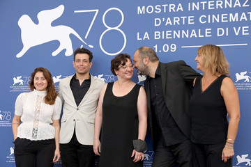 """Orwa Nyrabia Camille Laemlé """"Republic Of Silence"""" Photocall - The 78th Venice International Film Festival"""