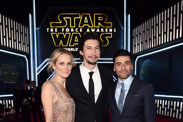 Oscar Isaac Adam Driver Premiere of 'Star Wars: The Force Awakens' - Red Carpet