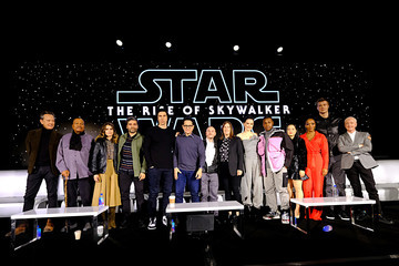 Oscar Isaac John Boyega The Stars And Filmmakers Of Star Wars:  The Rise Of Skywalker At The Global Press Conference