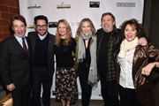 (L-R) Martin Short, J.J. Abrams, Paula Malcomson, Catherine O'Hara, Mark Hamill, and Andrea Martin attend the Oscar Wilde Awards 2018 at Bad Robot on March 1, 2018 in Santa Monica, California.