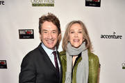 Martin Short (L) and Catherine O'Hara attend the Oscar Wilde Awards 2018 at Bad Robot on March 1, 2018 in Santa Monica, California.