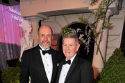 """(L-R) Creative Director of Oscar de la Renta Peter Copping and FAMSF Deputy Director of Museums and Chief Operating Officer Richard Benefield attend the """"Oscar de la Renta: The Retrospective"""" Benefit Gala at the de Young on March 9, 2016 in San Francisco, California."""
