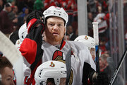 Chris Neil #25 of the Ottawa Senators plays against the New Jersey Devils at the Prudential Center on January 21, 2016 in Newark, New Jersey. The Devils defeated the Senators 6-3.