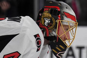 Craig Anderson #41 of the Ottawa Senators tends net during a game against the Vegas Golden Knights at T-Mobile Arena on March 2, 2018 in Las Vegas, Nevada. The Senators won 5-4.