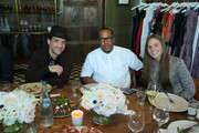 George Kotsiopoulos, Jason Rembert and        Bridget Borg attend The Outnet Stylists Luncheon Presented By The Daily Front Row on January 21, 2015 in Los Angeles, California.
