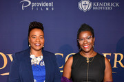 "Bernice King and Nadia Theodre attend the premiere of ""Overcomer"" at The Woodruff Arts Center & Symphony Hall on August 15, 2019 in Atlanta, Georgia."