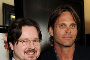 """Director Matt Reeves (L) and actor Chris Browning arrive at the premiere of Overture's """"Let Me In"""" at Bruin Theatre on September 27, 2010 in Los Angeles, California."""